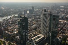 2016 Frankfurt: Blick vom Maintower Richtung Westhafen (mercatormovens) Tags: maintower aussichtsplattform frankfurt westhafen city main