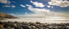 Amroth beach (bigbluewolf) Tags: nikon d7000 wales amroth sea seaside beach blue sky skies cloud clouds cloudy sun holiday sigma sigma1020mm wideangle