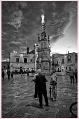 in piazza (orioneasud) Tags: monocrome salento street photography