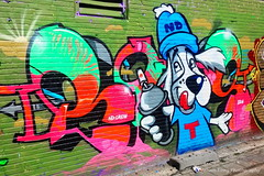 ND.CREW (Johan Konz) Tags: ndsm grafitti event industrial heritage amsterdamnoord netherlands building shipyard hall nikon d90 outdoor painting streetart art urban green red blue urbanart