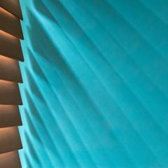 198/366 - Morning light (Spannarama) Tags: 366 july square blinds slats wall turquoise shadows light sunlight lines diagonal kitchen home