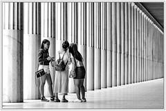 Athens / Athen; Stoa (drasphotography) Tags: athens athen greece griechenland stoa girls talking columns sulen monochrome monochromatic blackandwhite bw bn bianconero schwarzweis schwarzweiss sw travelphotography travel reise reisefotografie drasphotography people
