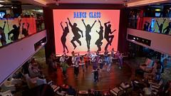 Bollywood Dance Class, Lobby Atrium (terraxplorer2000) Tags: norwegianbreakaway cruise cruiseship