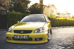 Honda Civic (mehmet_akif_bozdemir) Tags: honda civic stance stancenation izmir istanbul zent canon 5dmark3 tamron tamron2470mm 2470mm canon5dmark3 trkiye turkey tuning car carporn yellow culture camber race back vehicle air auto japon japan rally sar mugen outdoor suspansion typer gray sport rear ek show
