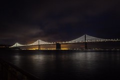 Bay Bridge, San Francisco, CA. (mindtraveler26) Tags: lights flickr flickrbest canon westcoast sky night water longexposure baybridge california sanfrancisco bridge
