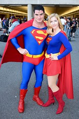 DSC_0334 (Randsom) Tags: nycc 2016 newyorkcomiccon nycomiccon javitscenter october nyc newyorkcity cosplay costume fun comicbooks comicconvention dccomics supermanfamily superman justiceleague jla justicesociety jsa heroine superheroine halloween spitcurl spandex supergirl matchingcostumes boots red blue couple duo cape michaelbyrnes