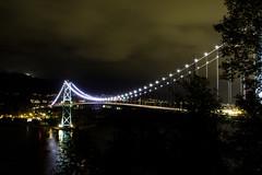 Out of cityglow (aerojad) Tags: 2016vancouver night nightphotography longexposure vancouver vacation travel wanderlust stanleypark bridge bridges lionsgatebridge suspensionbridge lionsgate canada pnw pacificnorthwest