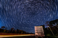 Car & Star Trails @ Interstate 81, NY (-> LorenzMao <-) Tags: httpwwwlorenzmaophotographycom cartrails startrails nikond750 nikon nightphotography nightlights stars star lighttrails trailertruck