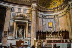 Rome - Pantheon Statue Niches 5 (Le Monde1) Tags: italy rome city eternal lemonde1 nikon d610 vatican capitoline palatine tiber river roma stpeters sevenhills capital romancatholic pantheon statue niches inri ignenaturarenovaturintegra