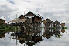 village over water (diatoscope) Tags: nikon d7000 myanmar inlelake shanstate