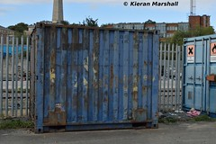CIEU 1601550, Heuston, 12/10/16 (hurricanemk1c) Tags: railways railway train trains irish rail irishrail iarnrd ireann iarnrdireann dublin heuston 2016 cie corasiompaireireann container