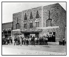 Kerby Theater grand opening - not my photo. Built in 1938. (lazy_photog) Tags: lazy photog elliott photography kerby theater theatre worland wyoming childhood entertainment first date with wife