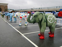 Peace Elephant by Rocket01, Herd of Sheffield Farewell Weekend 2016 (Dave_Johnson) Tags: meadowhall carpark shoppingcentre peaceelephant rocket01 peace cnd herdofsheffield herd elephant elephants art streetart sculpture sheffchildrens sheffieldchildrenshospitalcharity sheffieldchildrenshospital childrenshospitalcharity childrenshospital sheffield southyorkshire