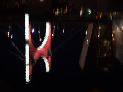 impressions (Cosimo Matteini) Tags: cosimomatteini ep5 olympus pen m43 mft mzuiko45mmf18 night reflection bilbao guggenheimmuseum bridge bilbo euskadi spain lasalvebridge danielburen impressions