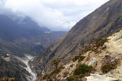 Weg hinauf nach Phortse (Alfesto) Tags: nepal trekking wanderung himalaya hiking namche khumbuarea sagarmathanationalpark tengboche phortse phorche