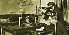 Dr. Wm. J. Morton and his X-ray technician - 1896 (SSAVE w/ over 6 MILLION views THX) Tags: williamjamesmortonmd xray 1896 wilhelmroentgen cathoderaytubes