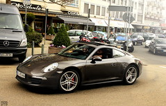 auto new black beauty car speed canon germany deutschland grey photo wiesbaden power 911 picture fast s spot porsche friendly april spotted passenger waving rare supercar spotting owner carrera combo 991 2013 650d worldcars
