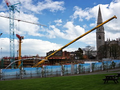 Construction of new library and cultural centre, Dun Laoghaire 1st-May-2013 #1 (turgidson) Tags: park county new ireland dublin studio lens four lumix prime carr construction community raw g library centre arts culture panasonic developer micro pro builders council pancake 20mm architects moran complex asph cultural dmc dun thirds converter laoghaire dunlaoghaire cotter contractors f17 m43 silkypix sisk primelens gh2 41442 rathdown mirrorless lumixg p1130415 moranpark naessens microfourthirds dunlaoghairerathdowncountycouncil 20mmf17 hh020 20mmf17asph panasonic20mmf17asph panasonicgh2 panasoniclumixdmcgh2 silkypixdeveloperstudiopro41442 carrcotternaessensarchitects