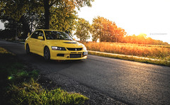 Yellow Evo. (Ni.St|Photography) Tags: auto sunset cars car evolution automotive lancer mitsubishi automobiles ix