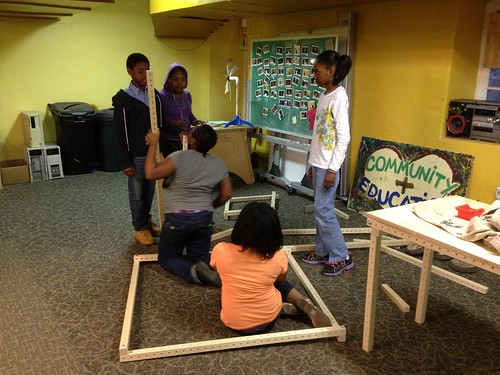 "Young makers building a clubhouse with gridbeam • <a style=""font-size:0.8em;"" href=""http://www.flickr.com/photos/52992303@N05/8711544316/"" target=""_blank"">View on Flickr</a>"