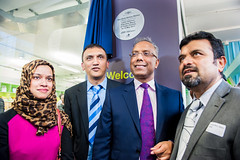Lutfur Rahman, Mayor of Tower Hamlets, with Coucillors at the plaque unveiling for the new Idea Store Watney Market (Idea Store Tower Hamlets) Tags: tower idea market hamlets towerhamlets watney ideastore watneymarket ideastores