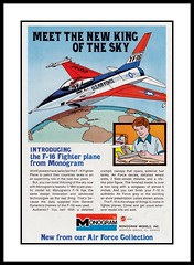 Monogram F-16 Model Kit, 1976 (Cosmo Lutz) Tags: airplane ad hobby f16 comicbook 1976 usairforce modelkit monogrammodels