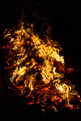 Fire (Paul Shears Photography) Tags: wood red orange black hot yellow fire warm smoke flames warmth smoking flame burn bonfire ashes heat ash ember blaze scorching scorch firewalk paulshears paulshearsphotography wwwpaulshearsphotographycom