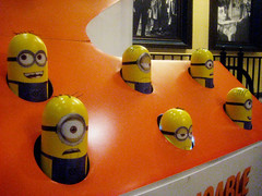 Despicable Me 2 Whack A Mole Minion Game Standee  0203 (Brechtbug) Tags: street new york city nyc 2 two game me yellow computer movie poster theater with theatre cartoon billboard lobby animation critters amc mole 34th whack gru sequel despicable minion standee henchmen standees 2013 a 05202013