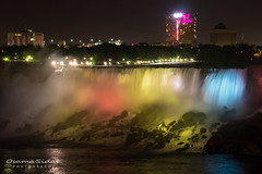 Red, Yellow & Blue (OsamaSidat) Tags: ontario photography lights niagarafalls waterfall olympus em5 olympus45mm osamasidat