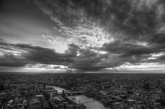 (davidkhardman) Tags: urban london monochrome clouds landscape cityscape shard tonemapped canonef24105mmf4lis