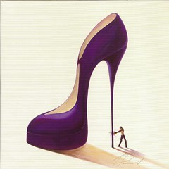 JP 1196 from Jette - Conquistatore selvaggio by Inna Panasenko (poppy cocteau) Tags: art shoe purple postcard stiletto innapanasenko