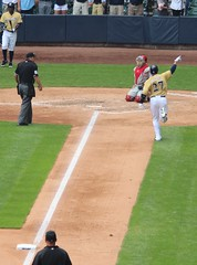 Gomez HR Homecoming (bjkrautk) Tags: brewers phillies millerpark
