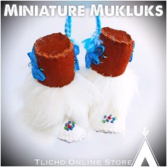 #Miniature #Mukluks made by Marie Adele Wetrade from #Gameti, NT on http://onlinestore.tlicho.ca (Tlicho Online Store) Tags: miniature mukluks gameti