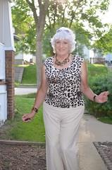 Be Proud Of Yourself! (Laurette Victoria) Tags: laurette woman pants silver milwaukee animalprint