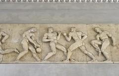 Entrance Frieze - sterbro Stadium (cohodas208c) Tags: sculpture frieze relief detail classical classicism athletes publicart sterbrostadium copenhagen