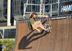 Vert Skateboarder On Vert Ramp (Greg's Southern Ontario (catching Up Slowly)) Tags: nikon nikond3200 toronto skateboarder skateboarding dundassquare vertskateboarding vertramp torontoskateboarder sportsphotography