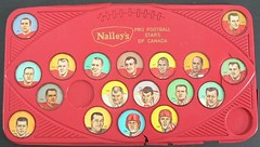 1963 Nalley's CFL Football Red Plastic Shield Holder / Wall Plaque Holder with 1963 Nalley's Calgary Stampeders Football Coins (WhiteRockPier) Tags: 1964 1963 nalleys football coins caps footballcoins footballcaps bclions britishcolumbialions edmontoneskimos calgarystampeders saskatchewanroughriders winnipegbluebombers blank back blankback cfl canadianfootballleague potatochips vintage plasticholders wallplaque plastiewallplaque greenplaque nalleysplasticcapholders envelope andymalycky nalleysfootballcoins spacemagicltd spacemagic westernconference profootballstars