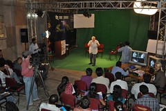Ron Harris teaching at Media Training Conference in India