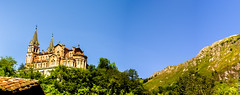Covadonga Panorama (G.Roca) Tags: church basilica covadonga spain asturias picosdeeuropa panorama mountain sky trees summer sunny catholic sxix tourism
