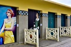 Deauville ...la  Promenade des Planches  ...(1) (miriam ulivi) Tags: miriamulivi nikond7200 france normandie deauville promenadedesplanches cabine cabanesdeplage beachcabins