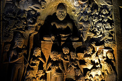 INSIDE AJANTA CAVES (GOPAN G. NAIR [ GOPS Photography ]) Tags: gopsorg gops gopsphotography gopangnair gopan photography ajanta caves buddha buddhist carving india
