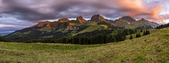 Naturpark Gantrisch (PhiiiiiiiL) Tags: reggisberg bern schweiz ch sunset gurnigel gantrisch panorama mountain pass burning sky switzerland