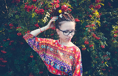 156 (Malvina Lavrientieva) Tags: nature portrait girl dreadlocks grass sun summer glasses rowan ukulele