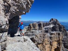Dolomiti di Brenta (Fransiska.Ska) Tags: landscape mountainridge rockformation dolomitidibrenta dolomiti hill mountainside outdoor sky clouds blue trekking viaferrata