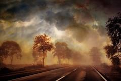 Frhnebel an der Kste (smithjuha440) Tags: strasse nebel wolken outdoor composing art photoshop dark foggy dusty