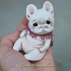 Yuutsu (French Bulldog Works) Tags: little tiny soft cute puppy bully melancholy dashagoux frenchbulldogworks pet custom art ooak opal sculpture dog bulldog french frenchie