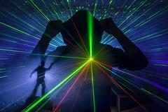 Set the controls to lighten the blend mode (Waving lights in the dark) Tags: lighten blended combo combination surprised controls control laser silhouette smoke vape wavinglightsinthedark