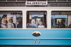 Old tram (krkojzla) Tags: tram oslo oslosentrum norway scandinavia oldtram people windows retro analog vintage grain canon22mmf2 canoneosm