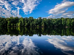 forest treeline reflections in catawba river (AgFineArtPhotography.com) Tags: northcarolina nc far catawba river north travel red trees squirrel springs pond lake regions treeline reflection wilderness interior outdoors arctic tourism vacation road polar relaxation hot blue green clouds sky rockhill landsfordcanal park southcarolina unitedstates