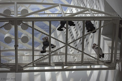 SFMOMA: Below The Oculus Bridge (Greatest Paka Photography) Tags: sfmoma sanfrancisco museum bridge museumofmodernart contemporary art oculus span mariobotta architecture snohetta extension grandstairway